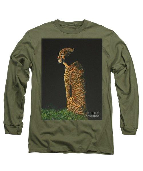 Cheetah At Sunset Long Sleeve T-Shirt