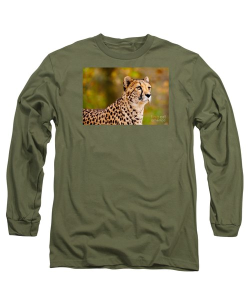 Cheetah In A Forest Long Sleeve T-Shirt