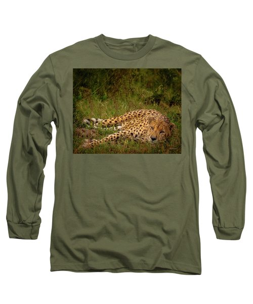 Cheetah Resting, Masai-mara Long Sleeve T-Shirt
