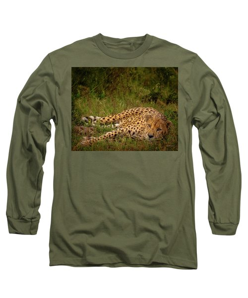 Cheetah Resting, Masai-mara Long Sleeve T-Shirt