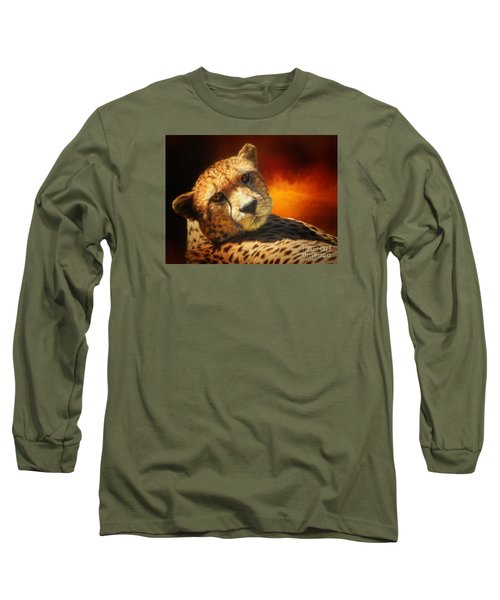 Cheetah Long Sleeve T-Shirt by Suzanne Handel