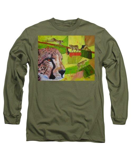 Cheetahs At Play Long Sleeve T-Shirt