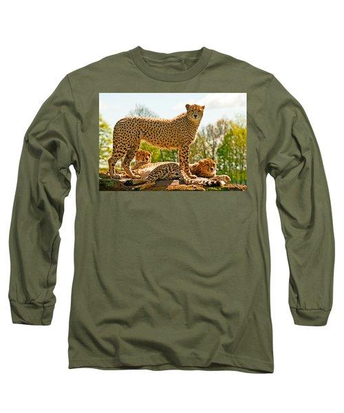 Cheetahs Three Long Sleeve T-Shirt