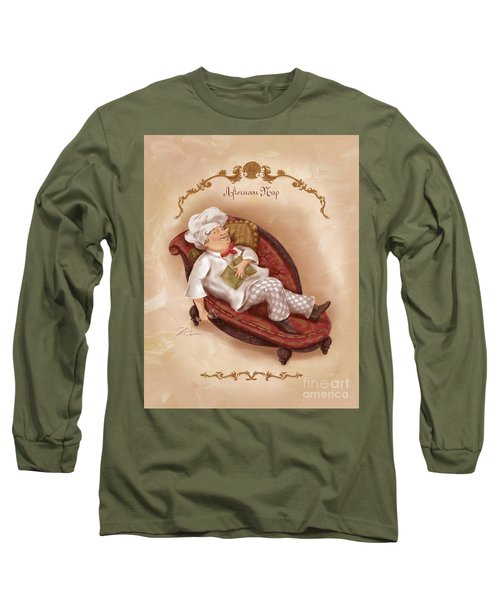 Chefs On A Break-afternoon Nap Long Sleeve T-Shirt
