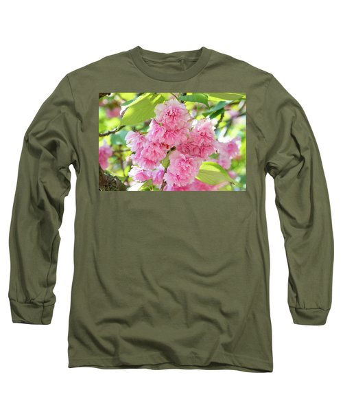 Cherry Blossom Cluster Long Sleeve T-Shirt