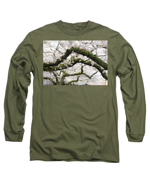 Long Sleeve T-Shirt featuring the photograph Cherry Blossoms 104 by Peter Simmons