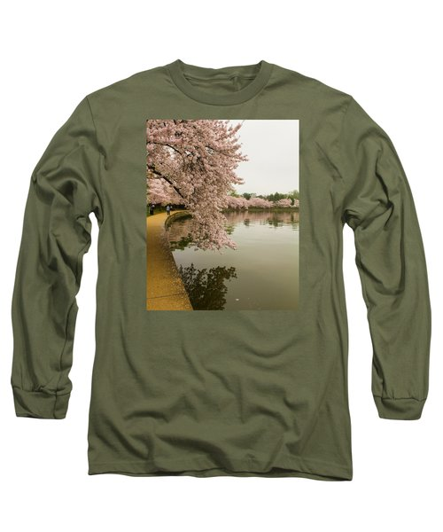Cherry Blossoms Along The Tidal Basin 8x10 Long Sleeve T-Shirt