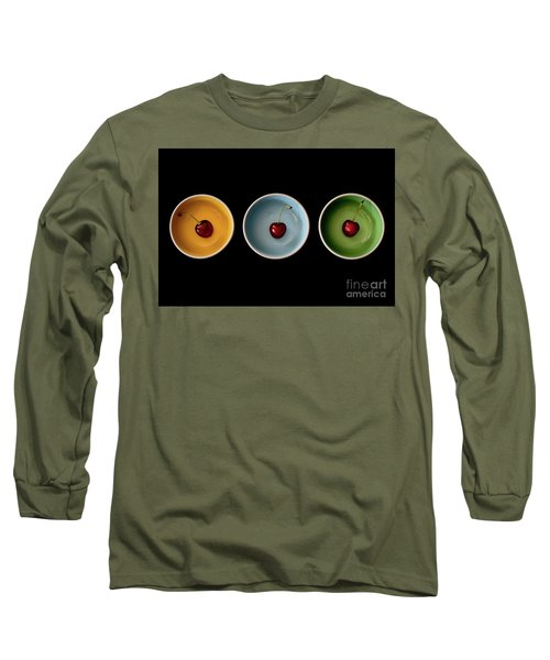 Cherry Color Block Experiment Long Sleeve T-Shirt