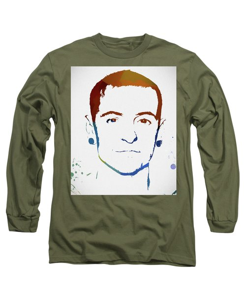 Chester Bennington Color Tribute Long Sleeve T-Shirt