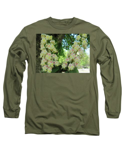 Chestnut Tree Flowers Long Sleeve T-Shirt