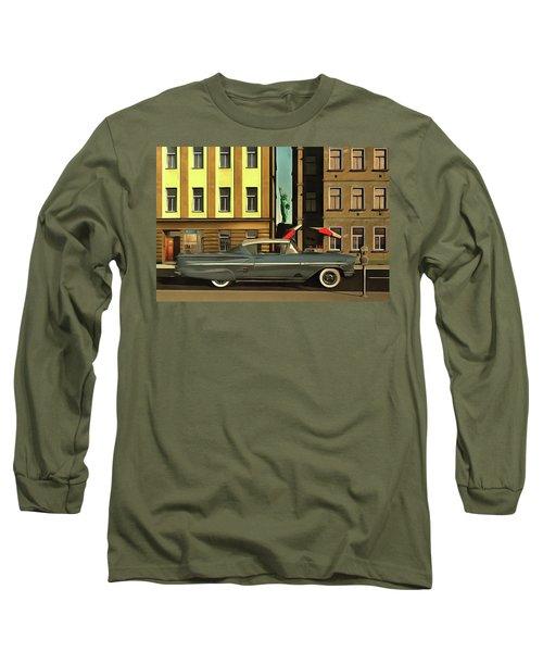 Chevrolette Impala At The Big Apple Long Sleeve T-Shirt