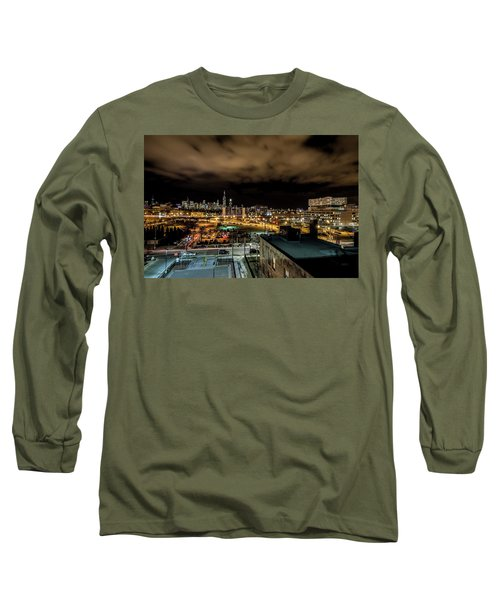 Chicago City And Skyline Long Sleeve T-Shirt