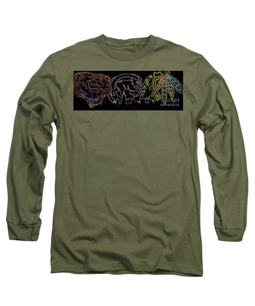 Chicago Sports Long Sleeve T-Shirt by Steven Parker