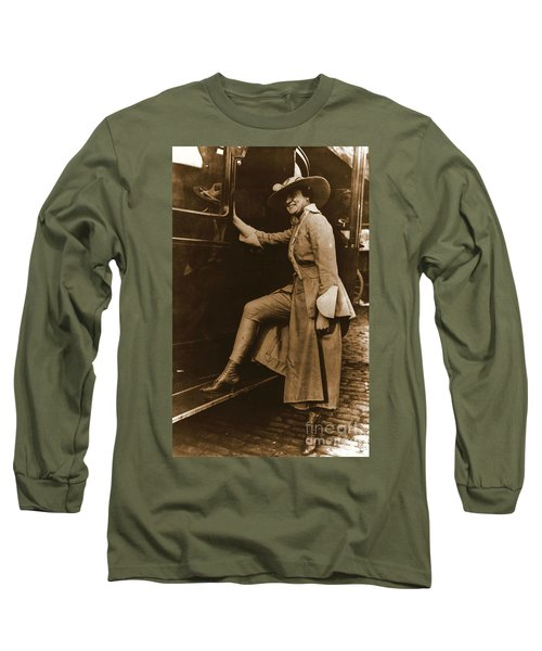 Chicago Suffragette Marching Costume Long Sleeve T-Shirt by Padre Art