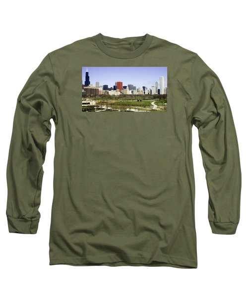 Long Sleeve T-Shirt featuring the photograph Chicago- The Windy City by Ricky L Jones