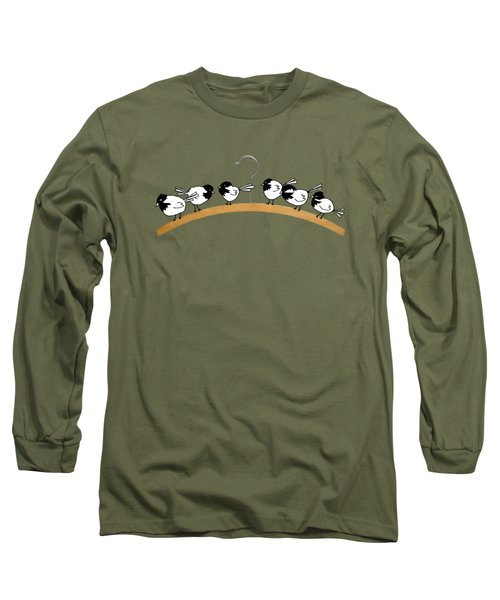 Chickadees Long Sleeve T-Shirt by Matt Mawson