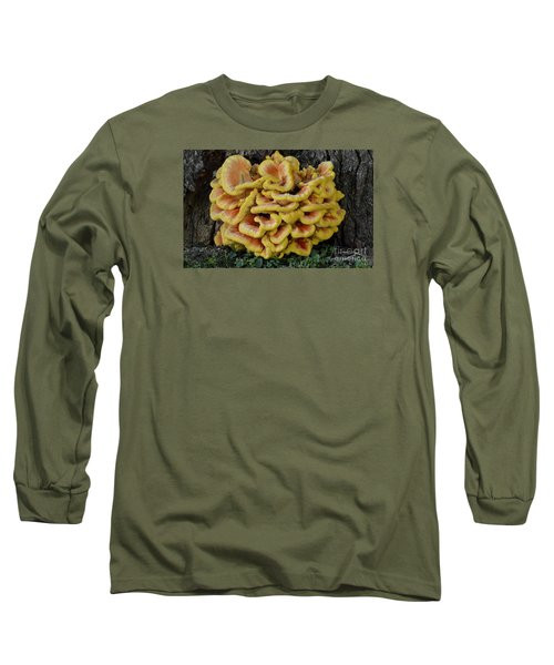 Chicken Of The Woods Long Sleeve T-Shirt by Randy Bodkins