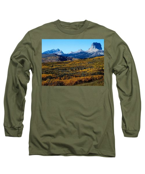 Chief Mountain In The Fall Long Sleeve T-Shirt