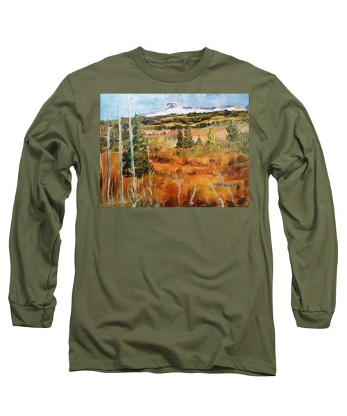 Chief Mountain Long Sleeve T-Shirt by Larry Hamilton