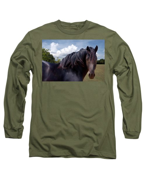Chief - Windy Portrait Series 3 - Digitalart Long Sleeve T-Shirt