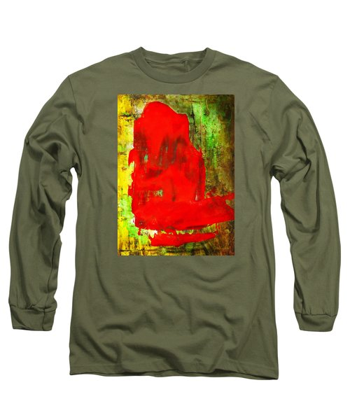 Colorful Red Abstract Painting - Child In Time Long Sleeve T-Shirt