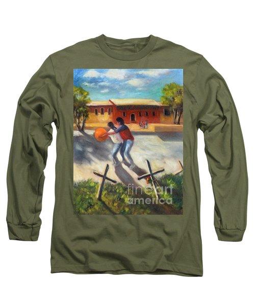 Long Sleeve T-Shirt featuring the painting Tres Cruces De La Juventud Y La Vejez by Randol Burns