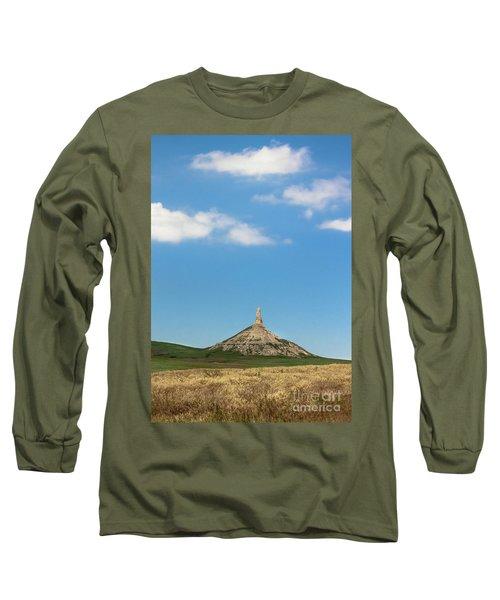 Chimney Rock Nebraska Long Sleeve T-Shirt