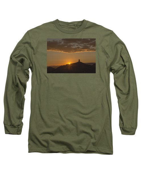 Long Sleeve T-Shirt featuring the photograph Chimney Rock Sunset by Laura Pratt