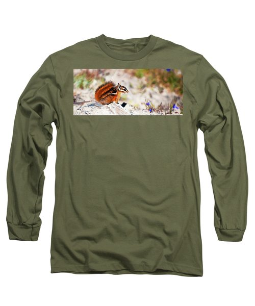 Long Sleeve T-Shirt featuring the digital art Chipper by Timothy Hack