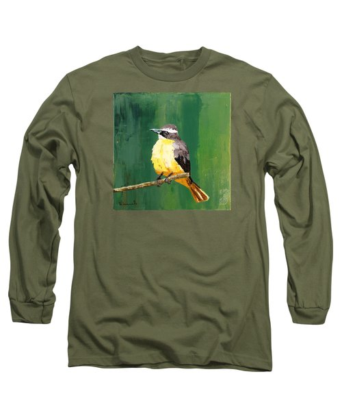 Chirping Charlie Long Sleeve T-Shirt by Nathan Rhoads
