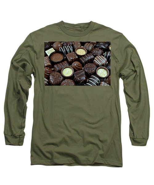 Chocolates Long Sleeve T-Shirt by Vivian Krug Cotton