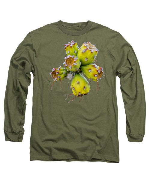 Long Sleeve T-Shirt featuring the photograph Cholla Fruit S48 by Mark Myhaver