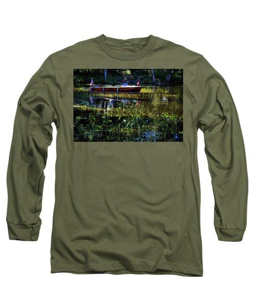 1958 Chris Craft Long Sleeve T-Shirt by David Patterson