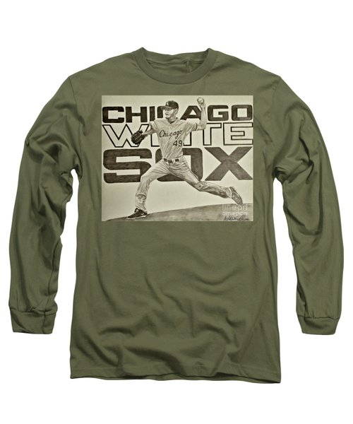 Chris Sale Long Sleeve T-Shirt by Melissa Goodrich