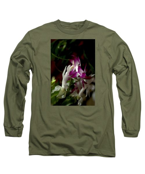 Long Sleeve T-Shirt featuring the photograph Christmas Cactus by B Wayne Mullins