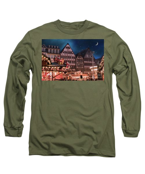 Long Sleeve T-Shirt featuring the photograph Christmas Market by Juli Scalzi