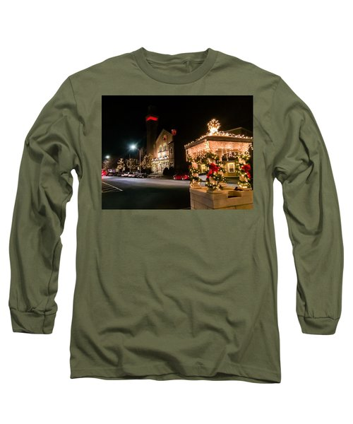 Christmas On Main Street Easthampton Long Sleeve T-Shirt
