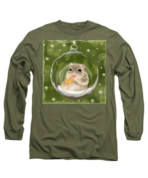 Long Sleeve T-Shirt featuring the painting Christmas Relax by Veronica Minozzi