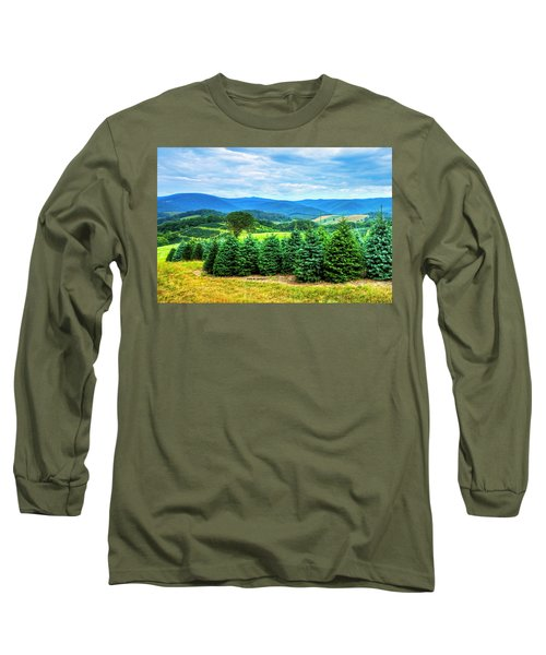 Christmas Spirit Long Sleeve T-Shirt by Dale R Carlson