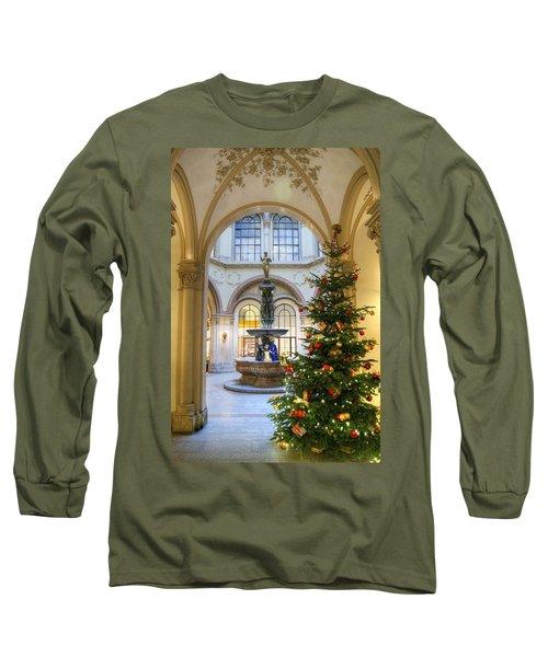 Christmas Tree In Ferstel Passage Vienna Long Sleeve T-Shirt
