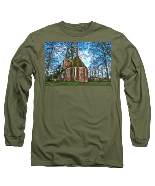 Church In Winsum Long Sleeve T-Shirt by Frans Blok