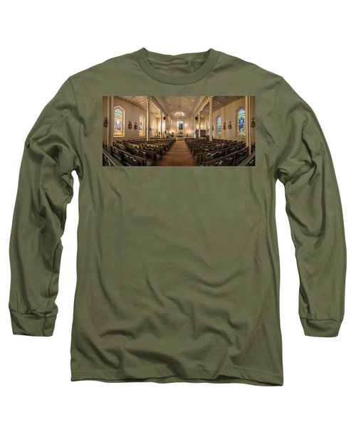 Long Sleeve T-Shirt featuring the photograph Church Of The Assumption Of The Blessed Virgin Pano 2 by Andy Crawford