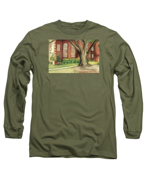 Long Sleeve T-Shirt featuring the painting Church Tree by Denise Fulmer