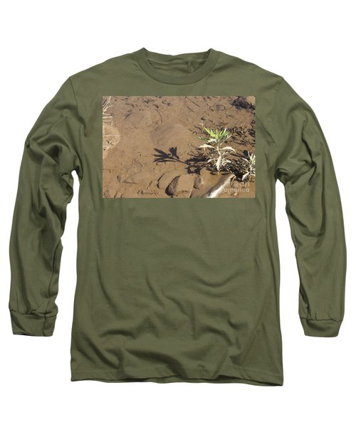 Long Sleeve T-Shirt featuring the photograph Circle Shadow Plant by Marie Neder