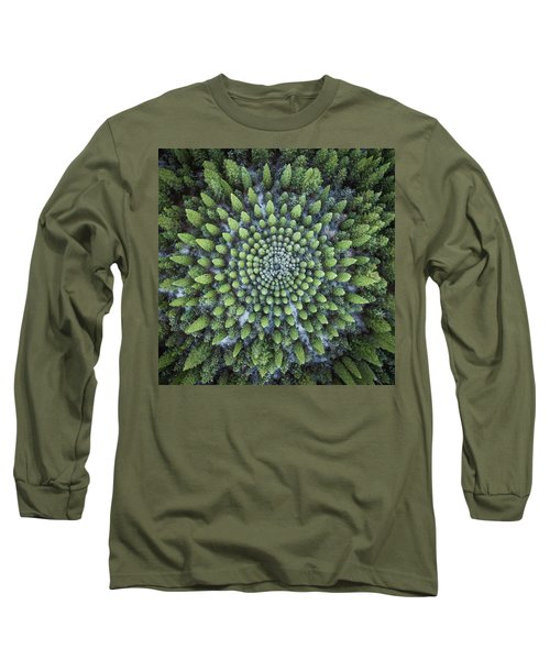 Circular Symmetry Long Sleeve T-Shirt