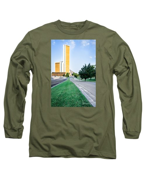 Long Sleeve T-Shirt featuring the photograph Citiplex Towers by Lawrence Burry