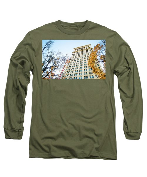 Long Sleeve T-Shirt featuring the photograph City Federal Building In Autumn - Birmingham, Alabama by Shelby Young