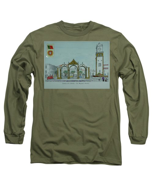 City Gates, San Miguel,azores Long Sleeve T-Shirt