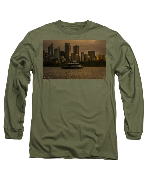 City Skyline  Long Sleeve T-Shirt by Andrew Matwijec