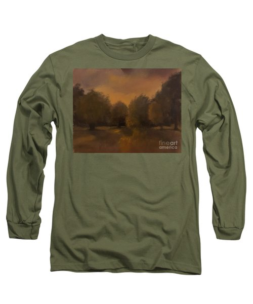 Clapham Common At Dusk Long Sleeve T-Shirt by Genevieve Brown